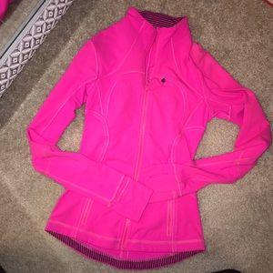 LuluLemon Hot Pink Zip Jacket Size 2/4